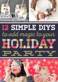 12 Super-Simple DIYs To Add Magic To Your Holiday Party