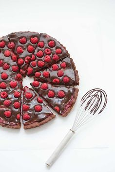 ... double chocolate raspberry tarte ...