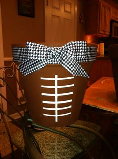 Adorable for Football Season - Put Plants, Tailgate Items, Food, Drinks or Treats in it! A Great Tailgating Serving Table Center Piece or even a Great Gift Basket for your Tailgate Host. Football Banquet, Football Cheer, Fall Football, Football Tailgate, Alabama Football, Football Season, College Football, Tailgating, Football Parties