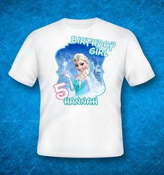 Frozen Tshirt birthday outfit Anna Elsa shirt by GreyhoundGraphics, $5.99
