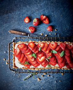 Rosé-Glazed Strawberry Tart | The rectangular tart pan makes for a striking presentation, but if you don't have one, you can use a 9-inch tart pan or pie plate.