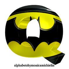 Alphabets by Monica Michielin: NOVO ALFABETO DO BATMAN (HOMEM MORCEGO) LOGO PRETO E AMARELO, BLACK AND YELLOW ALPHABET BATMAN, #batman