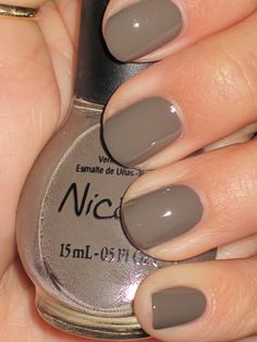 Try out taupe nail polish for a lovely neutral this fall.