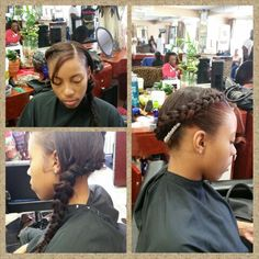 Full weave with side braid by yours truly~HAIR DIVA~MRS CRITTENDON