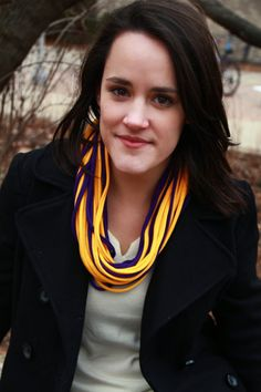 Infinity Scarf   Purple and Gold Color  w/Purple by sister9designs, $14.00