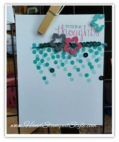 Dotty Angels by Stampin' Up! using Sequin and Best Thoughts Hostess Set featuring Petite Pansy and Star punch