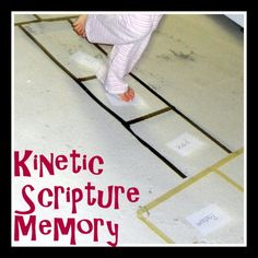 A fun way to get kids moving AND memorizing Scripture! Works for indoors or out.