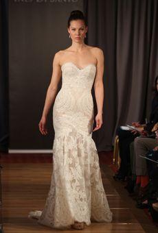 Brides: Spring 2013 Wedding Dress Trends: Lace Nouveau   Brides.com