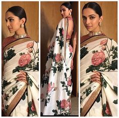 New ideas for bridal saree blouse designs deepika padukone Sabyasachi Sarees, Bollywood Saree, Bollywood Fashion, Indian Sarees, Anarkali, Khadi Saree, Deepika Padukone Saree, Deepika In Saree, Sonakshi Sinha