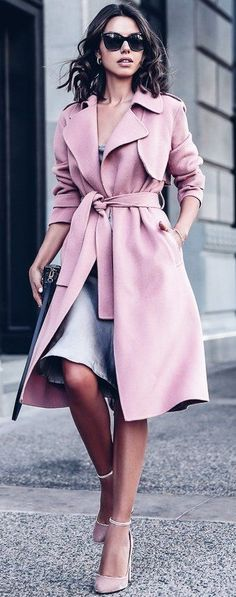 #fall #trending #street #outfits | Pink + Grey