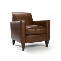 Rolly Saddle Brown Leather Blend Arm Chair - Overstock™ Shopping - Great Deals on Living Room Chairs