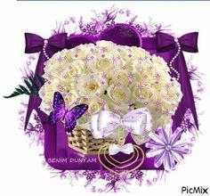 Purple Beauty. Butterfly Flowers, Beautiful Butterflies, Love Flowers, Beautiful Flowers, Gifs, Beautiful Gif, Gif Animé, Flowering Trees, Hot Chocolate