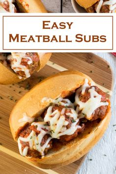 Easy Meatball Subs Easy Meatball Subs recipe via Fox Valley Foodie Meatball Sub Recipe, Meatball Subs, Meatball Recipes, Beef Recipes, Real Food Recipes, Cooking Recipes, Sandwich Recipes, Diabetic Recipes, Drink Recipes
