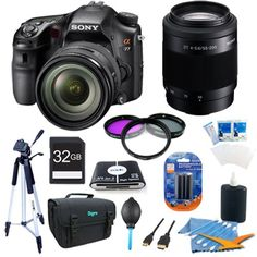 Sony Alpha A77 SLT-A77VQ A77VQ SLTA77 SLTA77VQ 24.3 MP Translucent Mirror Digital SLR With 16-50mm F2.8 lens,...
