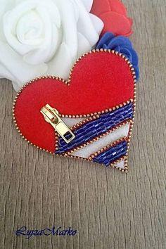 Odznaky/Brošne - Verné srdce námorníka brošňa - 8236494_