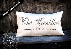 Personalized WEDDING Gift BURLAP PILLOW