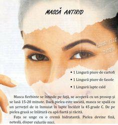 Masca antirid Hair Beauty, Organic, Cosmetics, Health, Milk, Plants, Ideas, Health Care, Salud