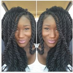 ❤ love the size of these Marley twists Natural Hair Journey, Natural Hair Care, Natural Hair Styles, Beautiful Braids, Gorgeous Hair, Hair Dos, Your Hair, Twist Braids, Havana Twists