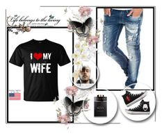 """I <3 my wife!"" by pantarei85 ❤ liked on Polyvore featuring Replay, Bulgari, Converse and Pier 1 Imports"