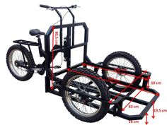 Italian Tricycle Cargo Bike ATTILA HEAVY DUTY with Lowered Platform, and renforced wheels is designed for Heavy Duty.
