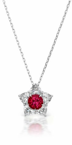 The Queen of Hearts necklace by Alexia Connellan. Burmese ruby with diamond hearts forming a star. Burmese Ruby, Yellow Rings, Heart Shaped Diamond, Ruby Necklace, Sea Pearls, Rare Gemstones, Pink Jewelry, Pink Tourmaline, Gemstone Colors