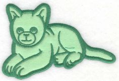 Happy Kitten applique | Applique Machine Embroidery Design or Pattern