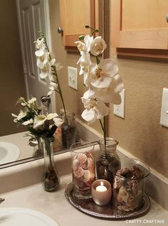 Bathroom decor, Bathroom decoration, Bathroom DIY and Crafts, Bathroom Interior design Beach Theme Bathroom, Spa Like Bathroom, Beach Bathrooms, Modern Bathroom Decor, Amazing Bathrooms, Bathroom Ideas, Budget Bathroom, Bathroom Organization, Bathroom Interior