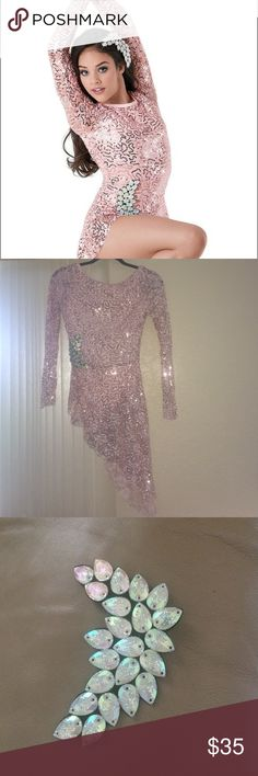 Pink sequin lyrical costume This pink sequin lyrical costume is super cute!  It has long sleeves and comes with a matching hairpiece just like the one on the costume! Has only been worn twice. Please let me know if interested ;) Weissman Other