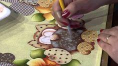 Mulher.com 19/01/2015 Pintura em tecido barrado corujas por Eliana Rolin...