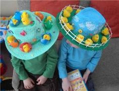 18 Easter Crafts for Kids that You'll Also Enjoy! Easter Bonnets For Boys, Easter Bunny, Easter Eggs, Boys Easter Hat, Crazy Hat Day, Crazy Hats, Easter Projects, Easter Crafts For Kids, Easter Ideas