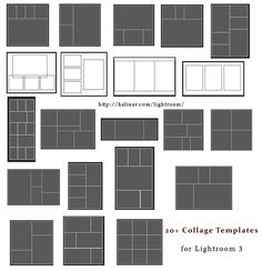 free lightroom collage templates