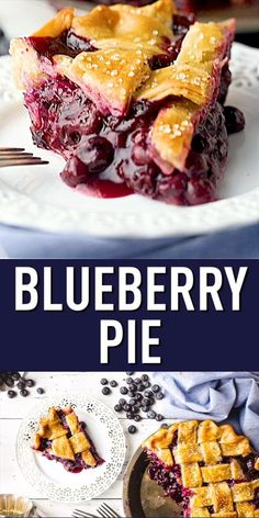 Homemade Blueberry Pie: With blueberry pie filling made from fresh or frozen blueberries, encased in a flaky pie crust. Thickens beautifully; never runny! #blueberrypie #filling #easy #recipe #withcrumbtopping #frozen #fresh #homemade #best #lemon #crust #canned #maine #fromscratch #classic #awardwinning #southern #oldfashioned #simple #deepdish #lattice #video #amish #rustic #perfect #blueberry #summer #pie #desserts Classic Blueberry Pie Recipe, Homemade Blueberry Pie, Blueberry Pie Recipes, Amaretti Cookies, Frozen Blueberries, Deep Dish, Indian Food Recipes, Food Videos, Summer Pie