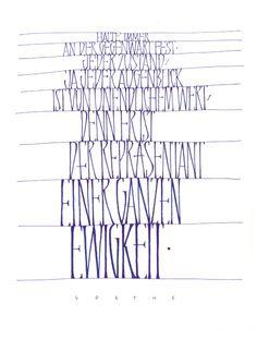 Schrift-Bilder - Schriftatelier Hoyer