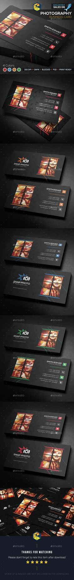 Photography Business Card Template PSD. Download here: http://graphicriver.net/item/photography-business-card/14993717?ref=ksioks