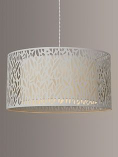 Buy John Lewis & Partners Meadow Fretwork Shade Ceiling Light, Grey/White from our Ceiling Lighting range at John Lewis & Partners. Dining Table Lighting, Lounge Lighting, Bedroom Lighting, Living Room Lighting, Light Table, Ceiling Shades, Ceiling Lights, Cream Bedrooms, John Lewis Shops