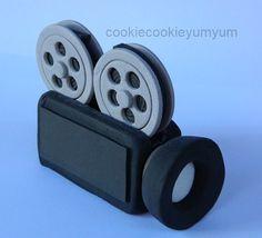 1 edible 3D MOVIE CAMERA Film star hollywood by cookiecookieyumyum