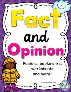 FREE Fact and Opinion Posters! CCSS!!