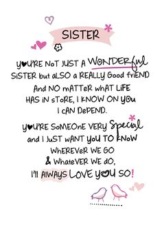 Inspired Words Greetings Card - Sister