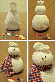 Ok, this is definitely my favorite craft I've made all season. First,  because they're super easy to make, and second, because they're ADORABLE.  I've been meaning to make some kind of snowman craft for a while, but  unfortunately I couldn't figure out a good design. So far I've made all my  cr