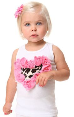So stylish.Your lil' one will be the talk of the town in this adorable tank. The tank features a faux fur cheetah heart and is surrounded by sweet frayed rose trim. Beautiful Baby Girl, Beautiful Children, Cute Kids, Cute Babies, Designer Baby Clothes, Posh Girl, Baby Boutique, To My Daughter, Daughters