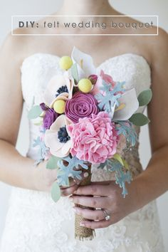 DIY - How to make a felt wedding bouquet!...The best tutorial for making flowers that I've seen yet!!!
