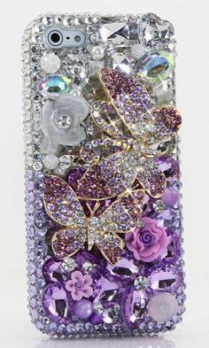 Lavender Butterfly Bling case Design made for iPhone 5/ 5S, iPhone 6s/ 6s Plus, Samsung Galaxy (S3/ S4/ S5), Samsung Galaxy Note (2/ 3/ 4/ 5), Nokia. Grab this crystal bling phone case at cheap price.  http://luxaddiction.com/collections/3d-designs/products/lavender-butterfly-design-style-707