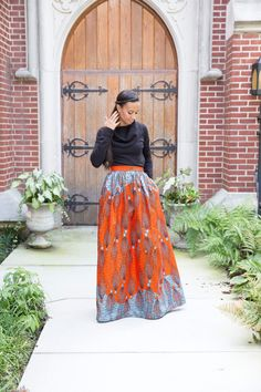 c71ad03a19 Mélange Mode African Print Maxi Skirt by MelangeMode on Etsy ~Latest African  Fashion