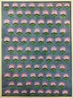 Pichwai Art Print featuring the painting Lotus Pichwai Miniature by The Kaarigars Pichwai Paintings, Mughal Paintings, Indian Art Paintings, Mughal Miniature Paintings, Eyes Artwork, Pop Art Wallpaper, Indian Folk Art, Krishna Art, New Art