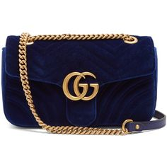 28ce40c716fdd Gucci GG Marmont quilted-velvet cross-body bag (2