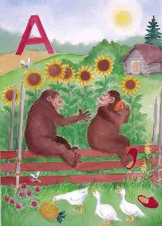 Liljan aapinen kirjain A Learning Letters, School, Painting, Beginning Sounds, Painting Art, Paintings, Painted Canvas, Drawings
