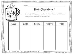 hot chocolate describing~Spend a Day in Second Grade, January 12, 2012