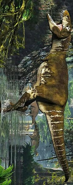 """Lythronaxis anextinctgenusoftyrannosauridtheropoddinosaurthat lived around 80.6 to 79.9 million years ago in what is now southern Utah, USA. Thegeneric nameis derived from theGreekwordslythronmeaning """"gore"""" andanaxmeaning """"king"""".Lythronaxwas a large sized, moderately-built, ground-dwelling,bipedalcarnivorethat could grow up to an estimated 8m (26.2ft) in length and weighed 2.5 tonnes (5,500lb)"""