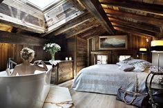 Location prestige Chalet Megeve : Le chalet PASHMINA. Une architecture moderne mêlant habilement tradition, luxe ...