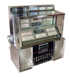 Vintage jukebox -i remember these in the diners at the tables